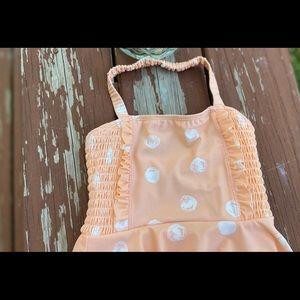 Jessica Simpson Peach Polka Dot Swimsuit